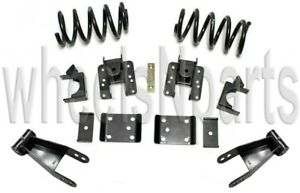 Lowering Kit Coils Shackles Hangers Flip 2 4 Drop 2007 2018 Chevy Silverado V8