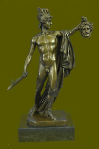 Perseus And Medusa Stunning Large Solid Bronze Greek Mythology Classic Artwork