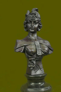 Super Deal Cinderella Girl Woman Female Portait Bust Bronze Marble Statue