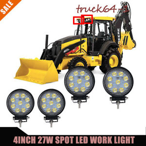 4 27w Led Work Light Spot Beam Offroad Driving Light For Tractor Combine Backhoe