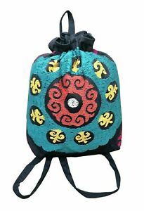Beautiful Uzbek Handmade Suzani Embroidery School Bag Rucksack