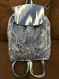 Beautiful Uzbek Ikat Silk Handmade Suzani Embroidery School Bag Rucksack