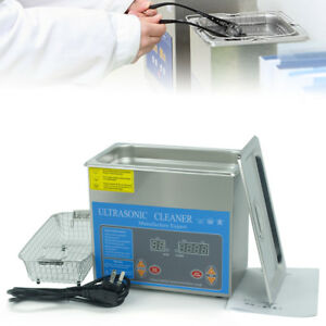 3l Industry Heated Ultrasonic Cleaner Heater Timer Digital Cleaning With Bracke