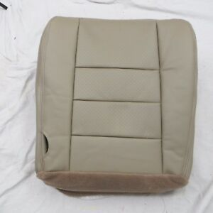03 07 Ford F250 350 Pickup Perforated Passenger Bottom Leather Seat Cover Tan