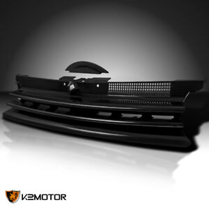 Fit 99 06 Vw Golf Gti Mk4 Black Bumper Grille Horizontal Badgeless Notch Filler