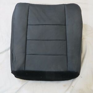03 07 Ford F 250 350 Lariat Pickup Passenger Bottom Leather Seat Cover Black