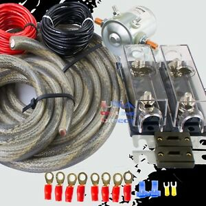 300a Heavy Duty Dual Auxiliary Anl Fuse Battery Isolator 4 Awg Copper Wire Kit