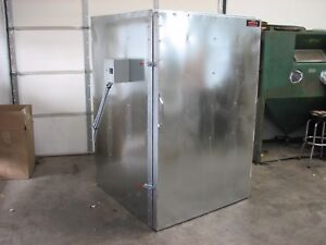 Batch Powder Coat Electric Curing Oven New Flat Floor Model 6ft Tall Lead Time