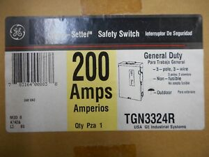 Ge Tgn3324r 200 Amp 240 Volt Non Fusible Outdoor Disconnect Safety Switch