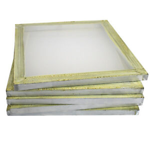 6 Aluminum Silk Screen Printing Press Screens 110 Frame Mesh 18 X 20