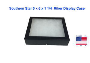 5 X 6 X 1 1 4 Riker Display Case Box For Collectibles Arrowheads Jewelry more
