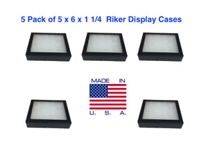 5 Pack Of 5 X 6 X 1 1 4 Riker Display Cases Boxes For Arrowheads Collectibles