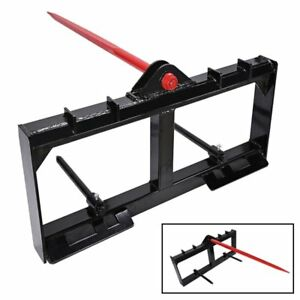 Hd Frame 49 Tractor Hay Spear 2 Stabilizers Skid Steer 3000lb Capacity