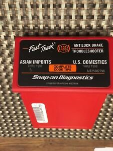 Snap On Mt25002798 Abs Troubleshooter Cartridge Asian Domestics Mt2500 Scanner