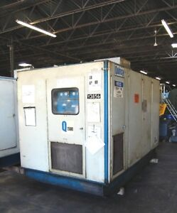 1983 350 Hp Quincy Q1500 Air Cooled Rotary Screw Air Compressor Separator
