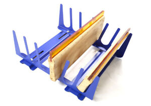 6 Layers Screen Printing Squeegee Rack Ink Scraper Holder Press Tools Organizer