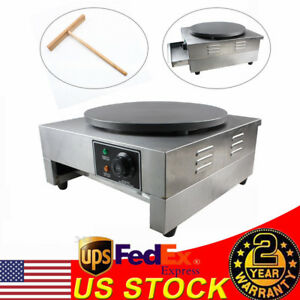 16 Commercial Electric Crepe Maker Pancake Machine Single Hotplate Non Stick Us
