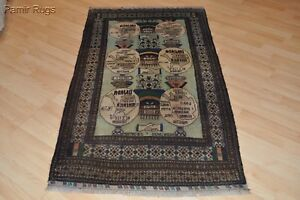 On Sale One Of A Kind 3 X 6 Tribal Beluch Pictorial War Rug Baloch Collectable