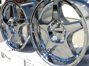 C4 Zr1 Chrome Corvette Wheels Fits 1988 1996 C4 17x9 5 17x11 On Sale