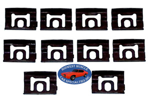 Nos Chrysler Dodge Front Windshield Rear Window Reveal Trim Molding Clips 10p Oo