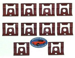 64 90 Gm Front Windshield Rear Window Reveal Moulding Molding Trim Clips 10pc Qq