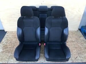 Lexus 06 13 Is Is250 Is350 F Sport Leather Suede Seats Set Complete Black Oem