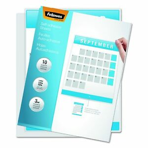 Fellowes 5221502 Self laminating Sheets 3mil 12 X 9 1 4 box Of 50 50 pack