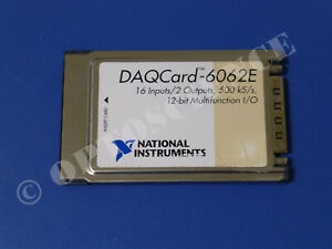 National Instruments Daqcard 6062e Ni Daq Card Pcmcia Analog Input Multifunction