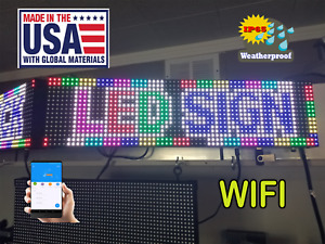 Led Sign 50 x 6 5 25 Per Side P10 Outdoor wifi made Usa