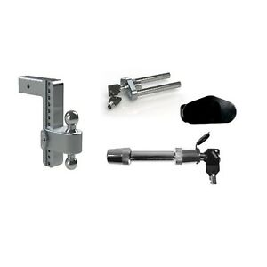 Weigh Safe 10 180 Drop Hitch Ball Mount W 2 5 Shaft Hitch Lock