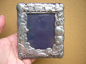 Vintage Beautiful Sterling Silver Baby Photo Frame By Carrs Of Sheffield