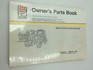 Jcb 510 40 510 40 Place ace Loadall Parts Book Manual M561011 On 9800 7808