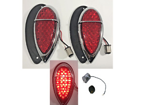 1938 1939 Lincoln Zephyr Ford Led Tail Lights Pair 2 Assembly Gaskets Flasher