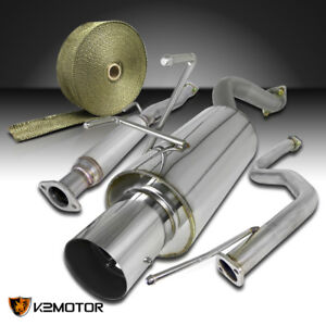 For 96 00 Honda Civic Dx 3dr Hatchback Catback Exhaust Muffler Titanium Wrap