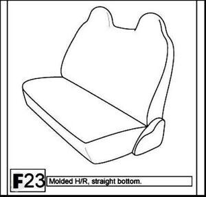 F23 Ford F250 Reg Super Cab Charcoal Solid Bench Molded Headrest Seat Covers