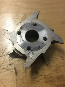 Carbide Staggered 4 Wing 2 Bullnose Shaper Cutter Head 1 1 2 Bore