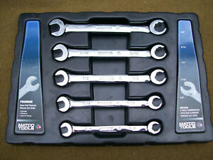 Matco Srfc5ta Flare Nut Line Wrench Open Combo Set Sae 1 2 9 16 Standard