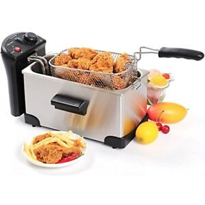 Stainless Steel Deep Fryer With Basket 3 2 Quart