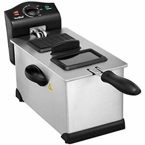 Deep Fryer With Basket And Viewing Window 3 Oil Litre Stainless Steel Easy