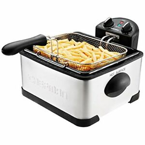 Deep Fryer With Basket Strainer Perfect For Chicken Shrimp French Fries And