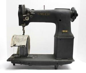 Singer 138w101 Post 2 needle Feed 1 8 Gauge Industrial Sewing Machine Head Only
