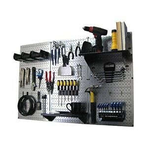 New Wall Control Pegboard Standard Tool Storage Kit Metallic black Ships Free