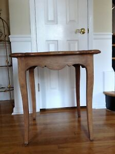 Burnt Pine French Side Table