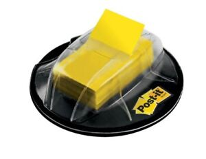 New Post It Flags Yellow 1 Inch Wide 200 Desk Grip Dispenser 680 Hvyw Ships Free