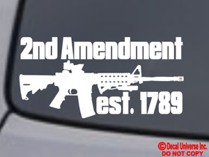 Ar 15 2nd Amendment Vinyl Decal Sticker Window Bumper 2a Gun Rights Molon Labe