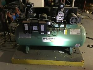 Speedaire Electric Air Compressor 3 Hp 120 Gallon used