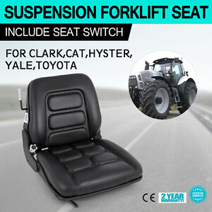 Universal Vinyl Forklift Suspension Seat Fit Clark Hyster Toyota High Made Good