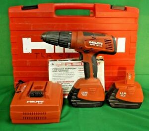 Hilti Cordless Hammer drill Driver Sfh 181 a W Case Extra Battery