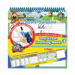 Board Dudes Dry Erase Learning Activity Book Cursive Letters And Word Building