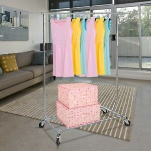 Nex Portable Clothing Garment Rack Collapsible Rolling Adjustable Height length